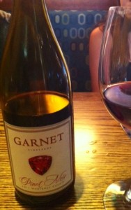 Garnet 2012 Pinot Noir, safely in the bottle