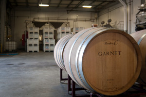 Barrels and bins getting ready for Harvest 2013 at Garnet Vineyards, Sonoma