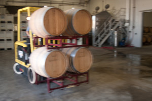 Prep the barrels- we're pressing all these fermentations and now no longer have grapes, but wine!
