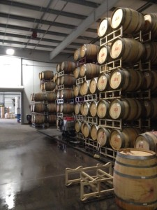 The Garnet Vineyards barrel stacks the morning after the 6.0 earthquake on 8/24/14.  No losses.  I am grateful and amazed.