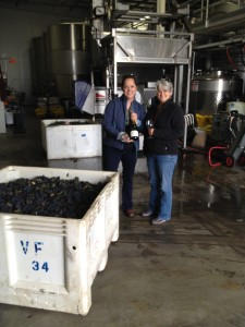 At Garnet Vineyards we celebrated a record early Harvest by toasting Stanly Ranch Pinot Noir in late August.
