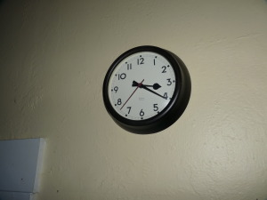 Our kitchen clock stopped at 3:20 AM on August 24 2014.  The battery was shaken loose by the 6.0 quake.