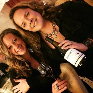 """Painter Penelope Moore and I about to collaborate (wine + oil painting) on a new work of art, one of my """"Top 5 Cool (non-liquid) Wine Things of 2016"""
